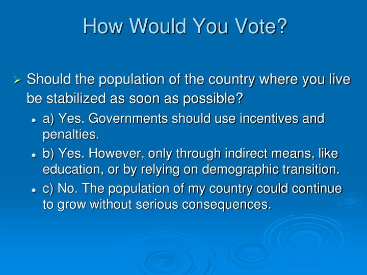How Would You Vote?