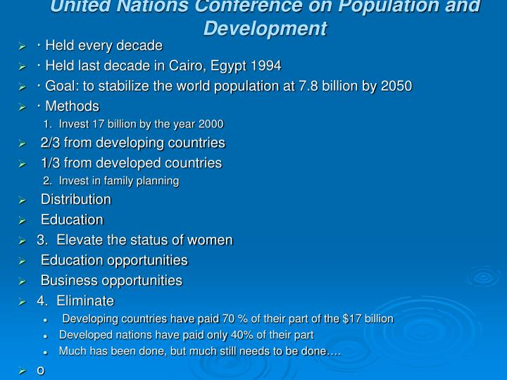 United Nations Conference on Population and Development