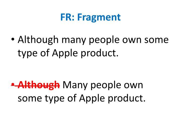FR: Fragment