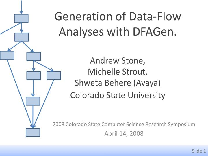 Generation of data flow analyses with dfagen