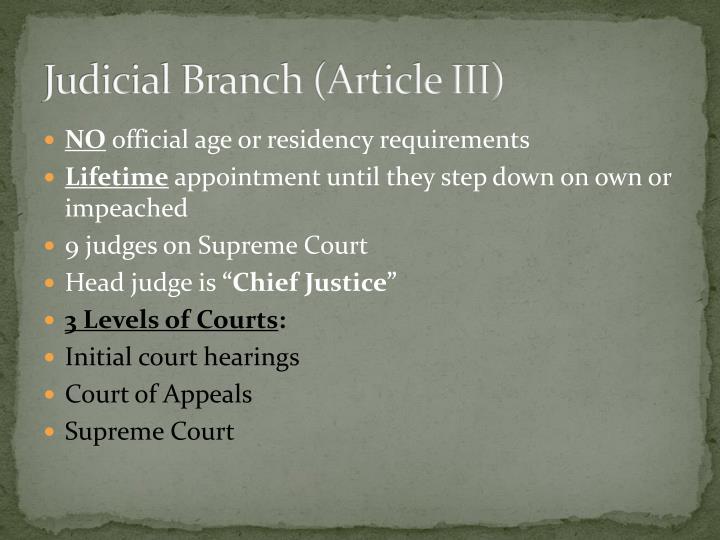 Judicial Branch (Article III)