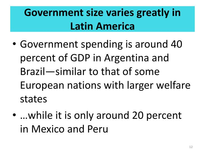 Government size varies greatly in Latin America