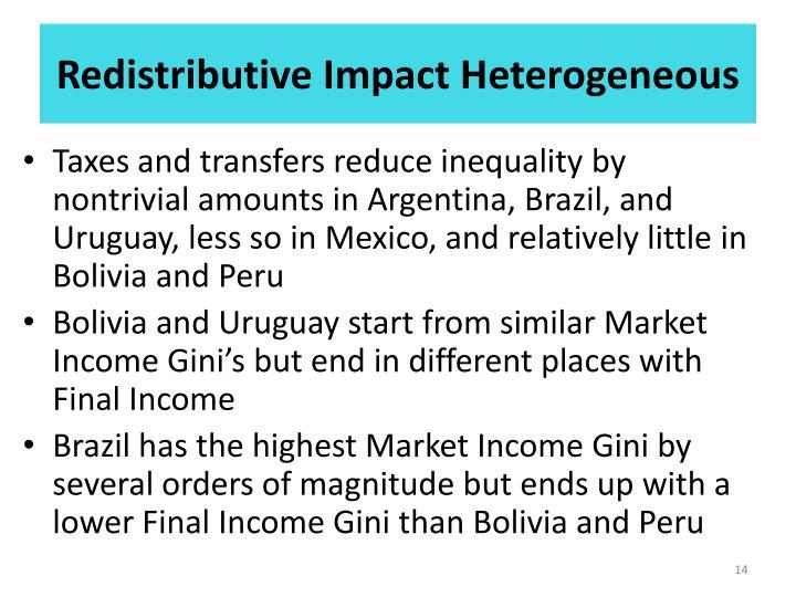 Redistributive Impact Heterogeneous