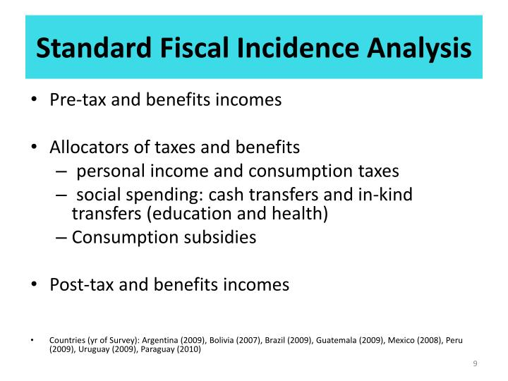 Standard Fiscal Incidence Analysis