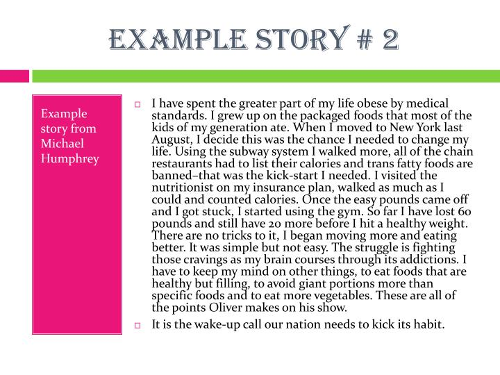 Example story # 2