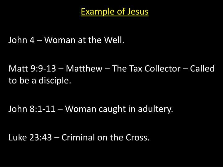 Example of Jesus