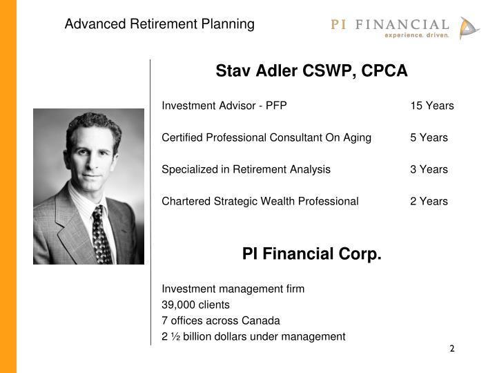 Advanced Retirement Planning