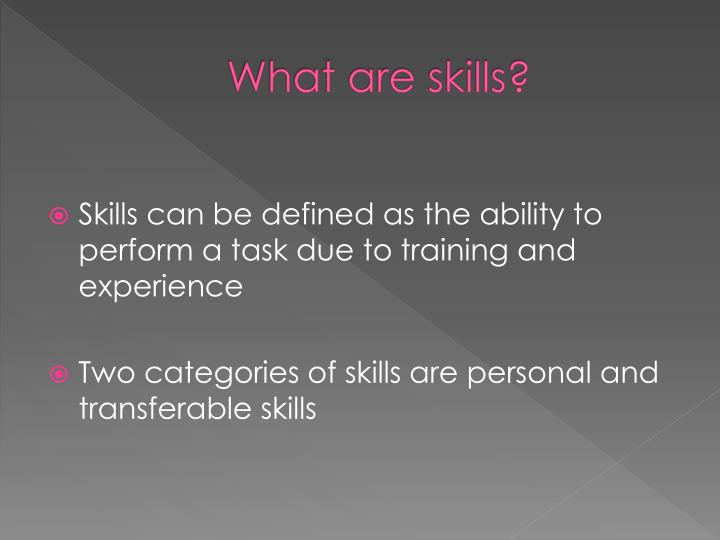 What are skills?