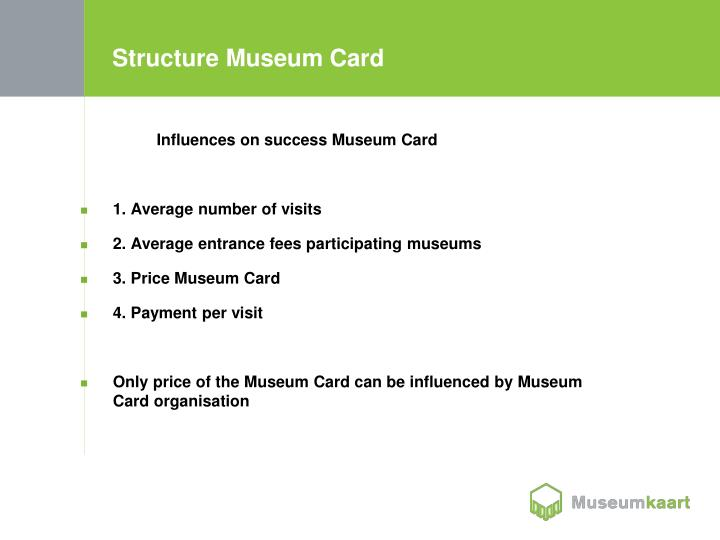 Structure museum card