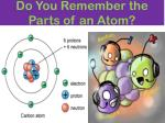 do you remember the parts of an atom