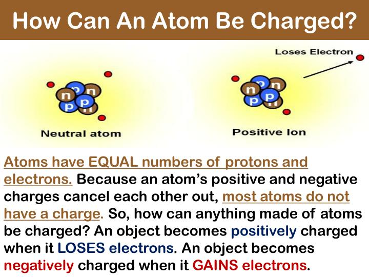 How Can An Atom Be Charged?