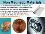 non magnetic materials