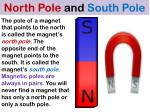 north pole and south pole