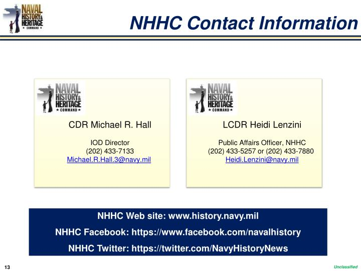 NHHC Contact Information