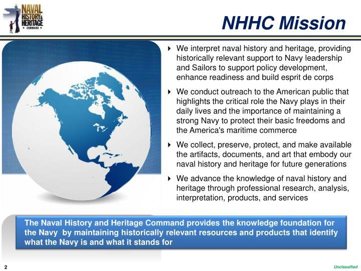 NHHC Mission