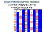 take out numbers that have a composite factor of 5