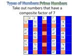 take out numbers that have a composite factor of 7