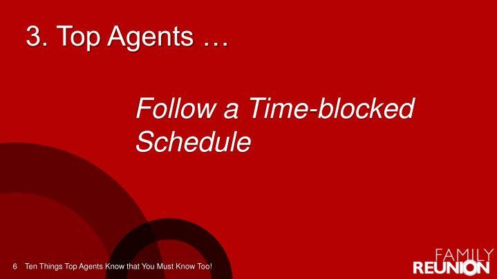 3. Top Agents …