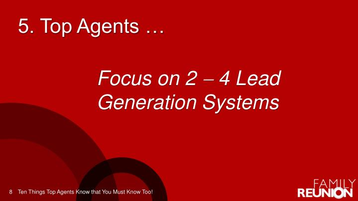 5. Top Agents …