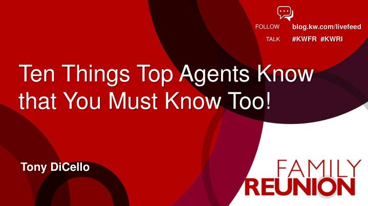 ten things top agents know that you must know too