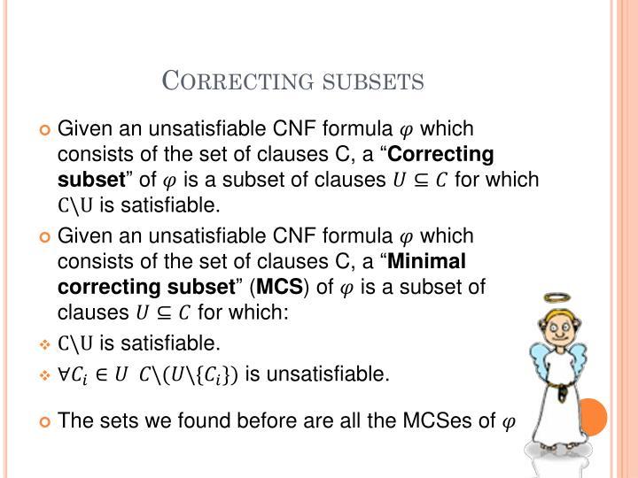 Correcting subsets