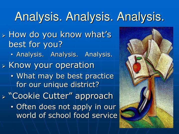 Analysis. Analysis. Analysis.