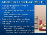 meals per labor hour mplh