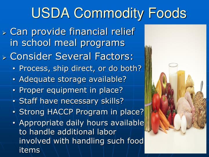 USDA Commodity Foods