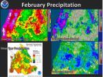february precipitation