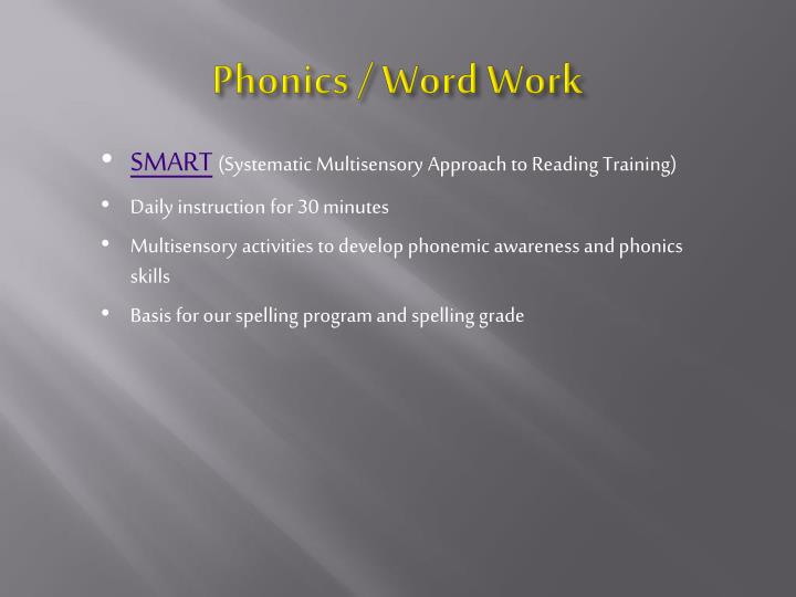 Phonics / Word Work