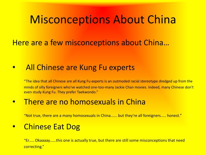Misconceptions About China