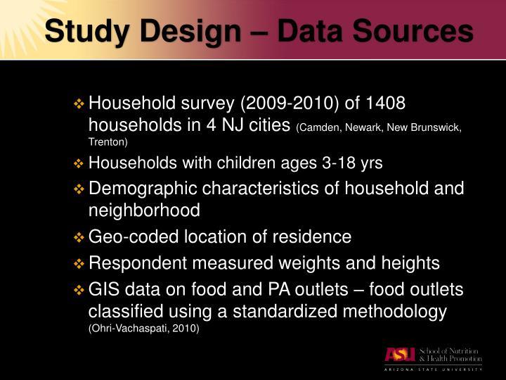 Study Design – Data Sources