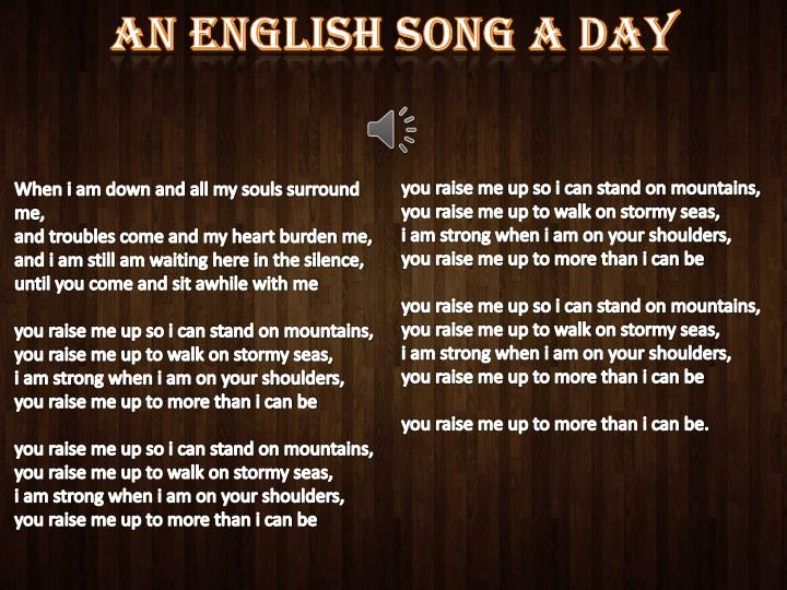 an English song a day
