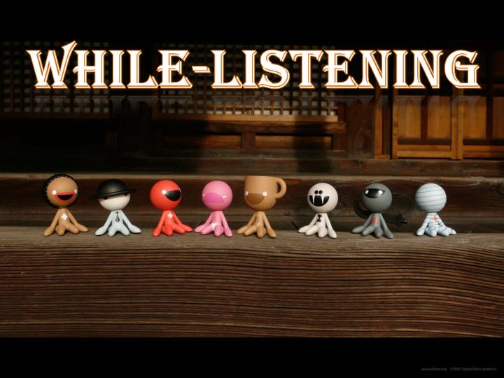 While-listening