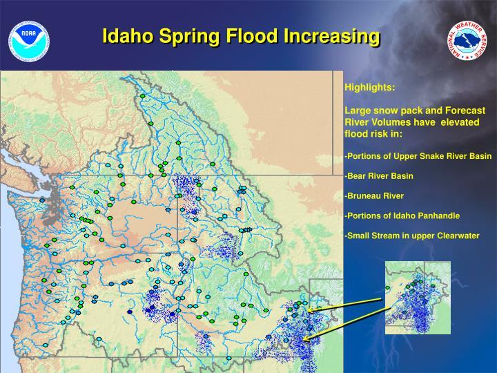 Idaho Spring Flood Increasing