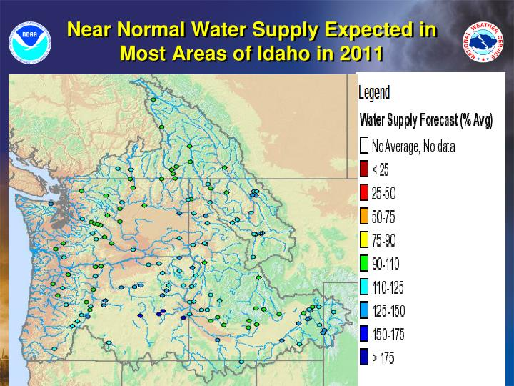 Near Normal Water Supply Expected in Most Areas of Idaho in 2011