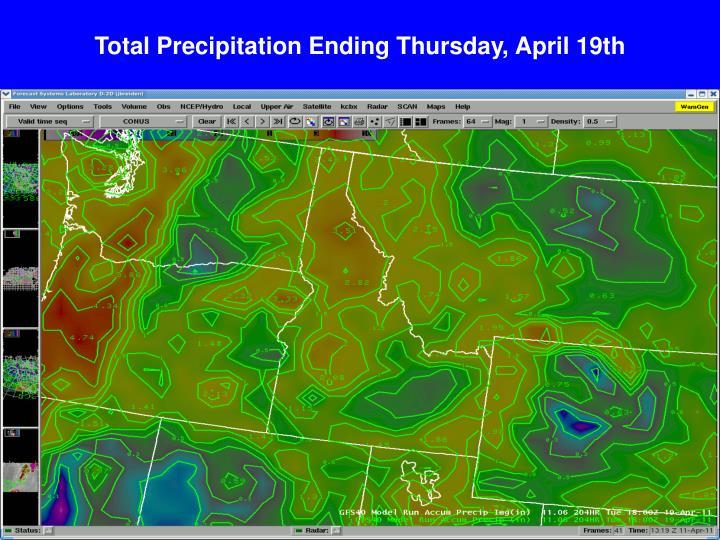 Total Precipitation Ending