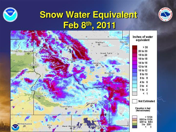 Snow Water Equivalent