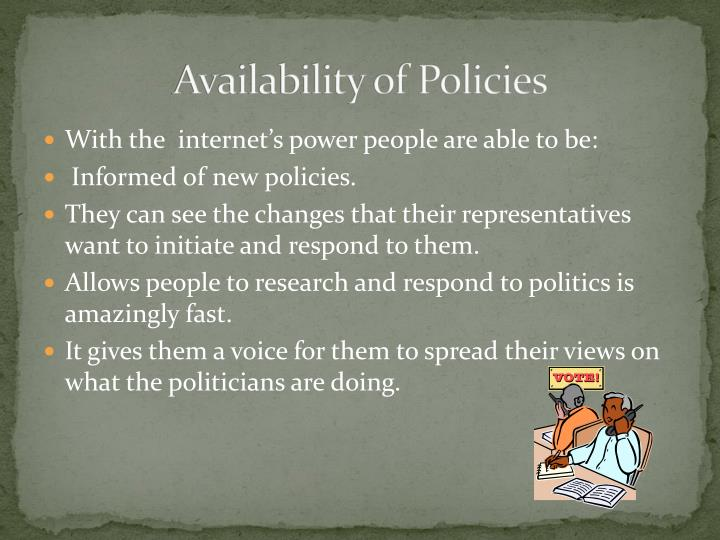 Availability of Policies