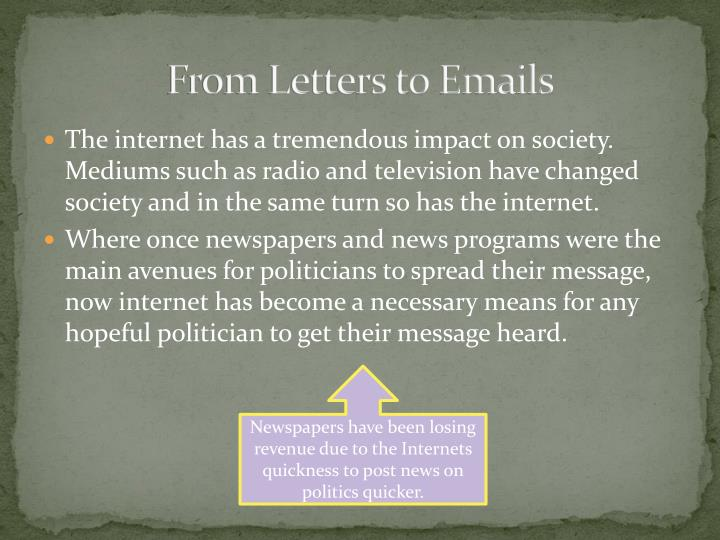 From Letters to Emails