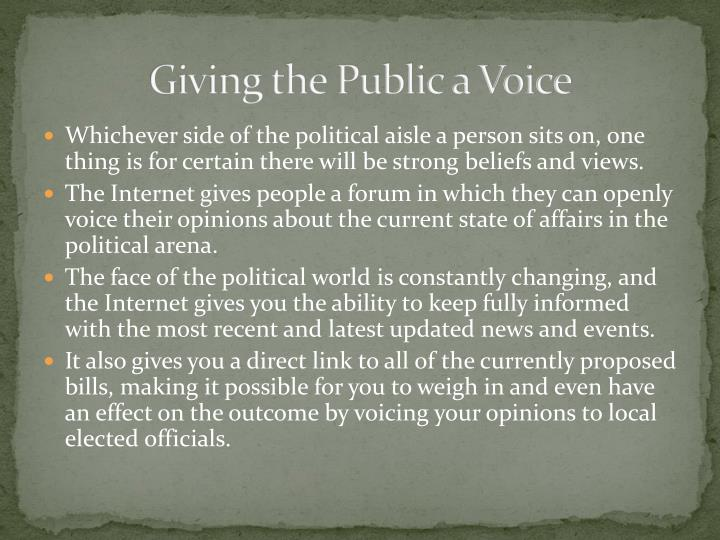 Giving the Public a Voice