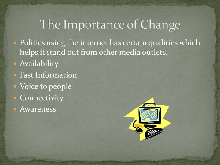 The Importance of Change