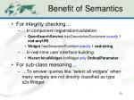 benefit of semantics4