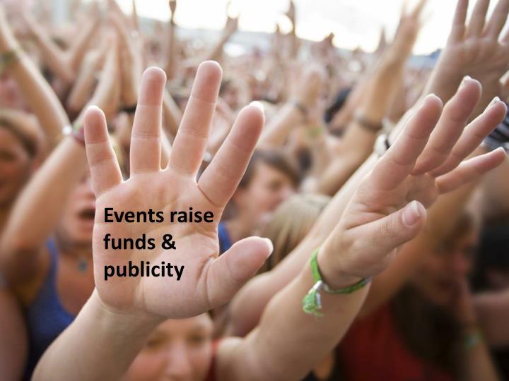 Events raise funds & publicity