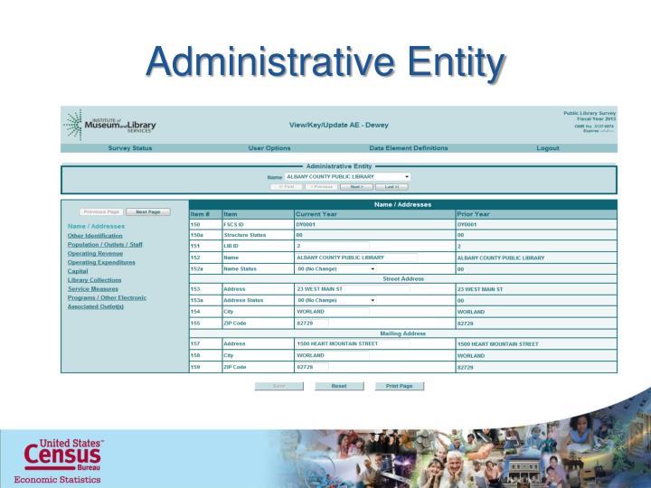 Administrative Entity