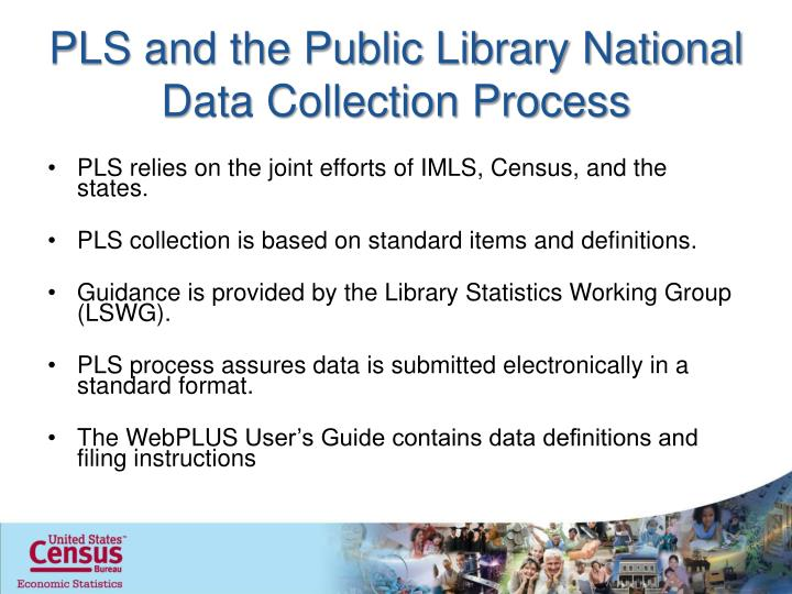 PLS and the Public Library National Data Collection Process