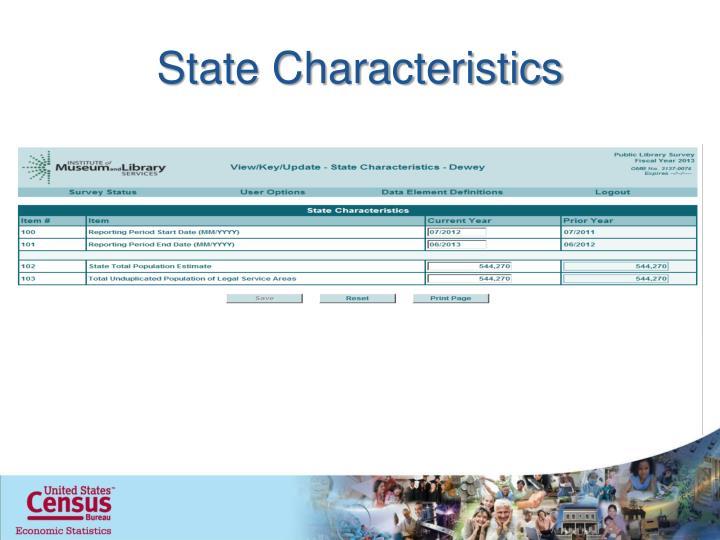 State Characteristics