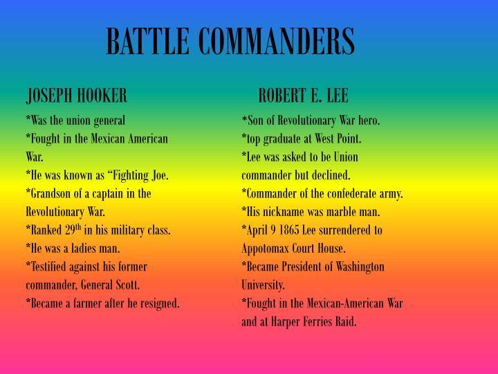 BATTLE COMMANDERS