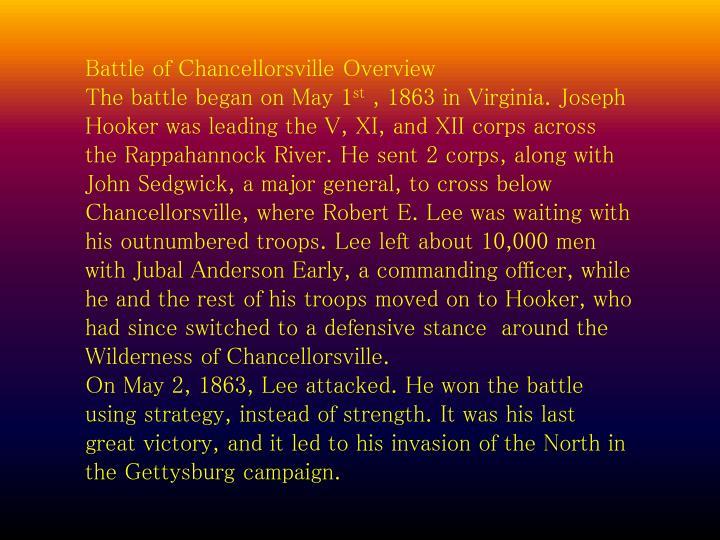 Battle of Chancellorsville Overview