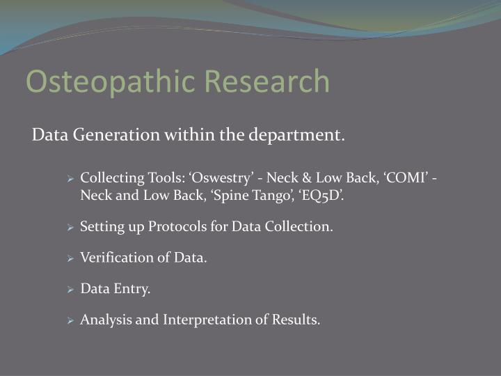 Osteopathic Research